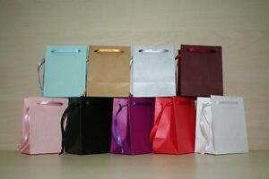 EXTRA SMALL PAPER GIFT BAGS  PINK,WHITE,BLACK,GOLD,SILVER,BLUE PACK OF 102