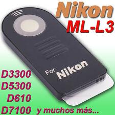 Mando Compatible NIKON ML-L3 ★D3300 D610 D5200 D3400 D5300 D5100 D3200 D7500