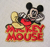 PATCH écusson thermocollant - SOURIS MICKEY allongé ** 5 X 5 cm ** à repasser