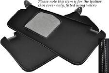 Negro Stitch Gris Cuero Manual Gear polainas ajustes de Toyota Hilux 2002-2005