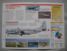 Aircraft of the World Card 122 , Group 4 - Boeing C/KC-97 Stratofreighter