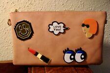 Emoji Beige Cross Body Shoulder Bag Handbag Purse Sephora Limited Ed. Vegan