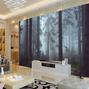Fear Woods Lines 3D Full Wall Mural Photo Wallpaper Printing Home Kids Decor