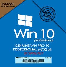 Win 10 Pro Professional32/64-Bit Genuine Activation License Key