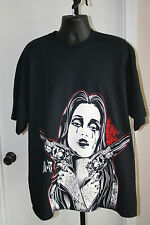 KILL IT T-SHIRT MENS TATTOO ART GIRL WITH GUNS  SIZE XXL   NEW