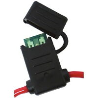 Water Resistant In Line ATO or ATC Fuse Holder with 12 AWG Wire for Boats - 30A