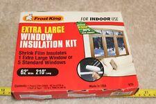 "Frost King Window Insulator Kit indoor extra large window 62"" x 210"" film sheet"