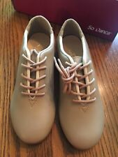 So Danca Tap Shoes Tan 12.5 M(Youth) Lace Up