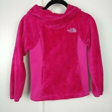 The North Face Oso Fleece Pullover Pink Kids Hoodie Size XS