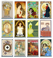 ART NOUVEAU SET OF 12 FRIDGE MAGNET IMANES NEVERA