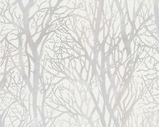PASTE THE WALL WHITE TREE WOODLAND TREES FORREST WALLPAPER A.S.CREATION 30094-1