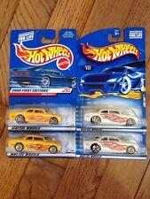 Hot Wheels SHOE BOX Lot of 4 Wheel Variations 2000 FE NIB