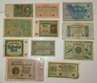 11 Germany Reichsbanknote Lot 1919,1922,1923,1924, Lot of 11