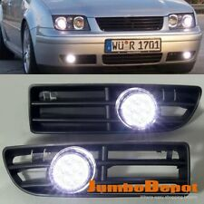Fit 99-04 VW JETTA BORA MK4 LED Front Bumper Grille Fog Light + Switch Wirings