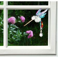 Woodstock Chimes Fantasy Glass Hummingbird -Swarovski Summer Rainbow - Chrai