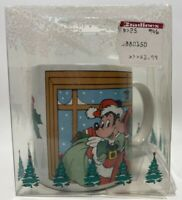 NEW VTG 1988 Applause DISNEY Mickey Minnie Christmas 12oz Coffee Mug Tea Cup
