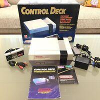 NES Boxed Nintendo Entertainment Control System Console Original Complete PAL