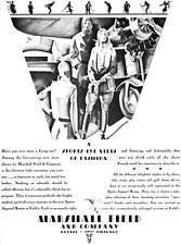 Marshall Field Art Deco Aviatrix Clothes For Flying CHARLES STENSON '30 Print Ad