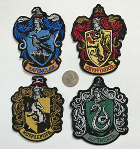 4 Pcs Mixed Harry Potter Characters Embroidered Iron-on Patch