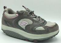 Skechers Size 8 Shape-Ups Toning Walking Shoes (SN 11806) Gray Pink