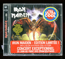 RARE DOUBLE CD ★ IRON MAIDEN - LIVE AT DONINGTON ★ NEUF SOUS BLISTER STICKER