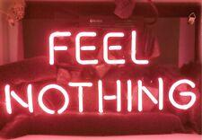 "13"" Feel Nothing Neon Sign Light Beer Bar Pub Lamp Glass Decor"