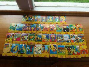40 set simpsons berri juice sticker card tazo picker cards homer bart cards