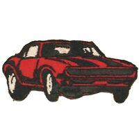 SS RED MUSCLE CAR iron-on PATCH embroidered AMERICAN AUTOMOBILE Super Sport