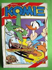 Greek Comic Walt Disney Carl Barks Komix 44 Frozen Gold 1992 February