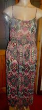 PAPAYA BLACK MULTI PRINT STRAPPY CHIFFON MAXI DRESS SIZE L = 16/18 BNWOT