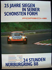 PORSCHE 911 CARRERA RSR 24 HOURS OF NURBURGRING SHOWROOM VICTORY POSTER 1988