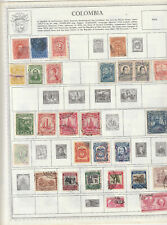 COLOMBIA Stamp Collection 12  Pages 19 century to 1980's ,Used , Unused and MNH
