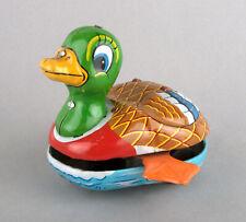 Mikuni (Japan) Tinplate Wind-Up Friction Drive Magic Swimming Action Cranky Duck
