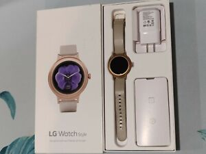 LG Watch Style W270 Rose Gold Stainless Steel Ivory Classic Buckle