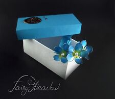 Blue Sky Forget Me Nots (Set of 3) Flowers Hair Pins Clips Bridal Kanzashi Resin