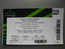 STRICTLY COME DANCING LONDON 09/02/2018 TICKET