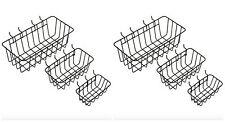 Pegboard Peg Board Display Panel Bins Baskets Shelf Storage Organizer 6 Pack Kit