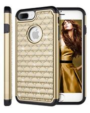 Fits iPhone 8 Case Bling Rhinestone Diamond Crystal Glitter Rubber Impact Cover
