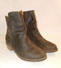 REEF Women's 8 M Studded Brown Leather Adora Boots Ankle Bootie Anthropologie