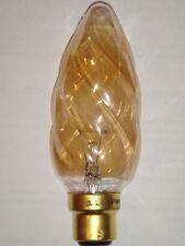 Ampoule Flamme Torsadee Torche Géante GIRARD SUDRON CROZE B22 60W ambre NEUVE