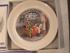 "1971 Wedgwood Children's Story Plate ""The Sandman"" by Hans Christian Andersen"
