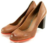 Lucky Brand Sofi $99 Women's Pump Heels Size 9 Brown Leather Excellent
