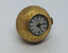 Ernest Borel Vintage Gold Plated Manual Wind Ball Watch Pendant