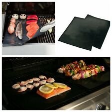 Reuseable Oven & Pan Liner Baking Non-Stick Cooking Grill Mat Sheet Black New