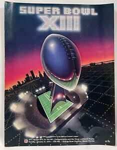 1979 Super Bowl XIII Official Program Pittsburgh Steelers 35 Dallas Cowboys 31
