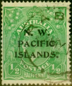 New Guinea 1915 1/2d Green SG65 Fine Used