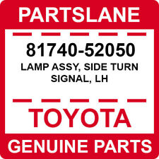 81740-52050 Toyota OEM Genuine LAMP ASSY, SIDE TURN SIGNAL, LH