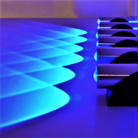Double Sided LED Bedroom Light Blue Aluminum Wall Lamp Home Sconces LED Decorati