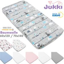 Spannbettlaken 60x120 70x140 Baby Kinder Betttuch Bettlaken 100% Baumwolle ⭐ EU