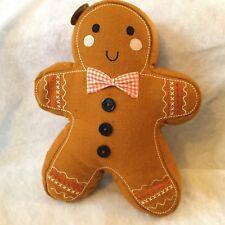 Gingerbread Man Shaped Pillow Cushion Felt Christmas Decoration Sass & Belle